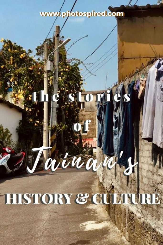 Pinterest graphic for Tainan history and culture blog post