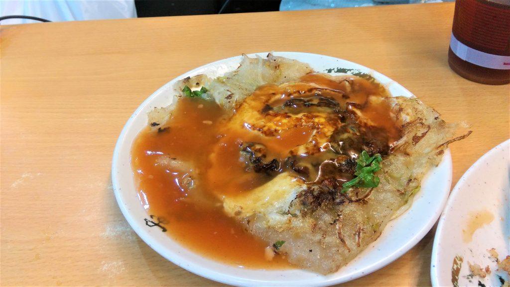 Tainan street food oyster pancake