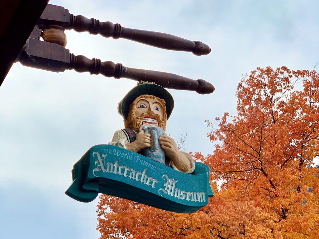 Sign for the Nutcracker Museum in Leavenworth
