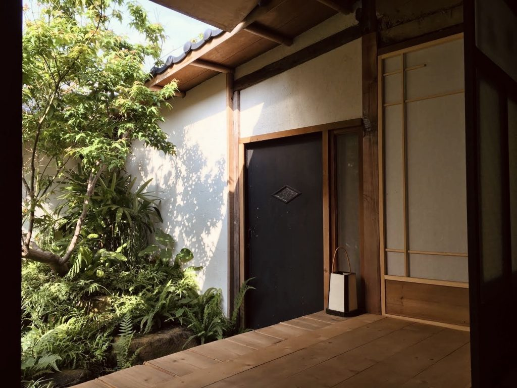 A corner of the traditional Japanese architecture at Sputnik Lab in Tainan