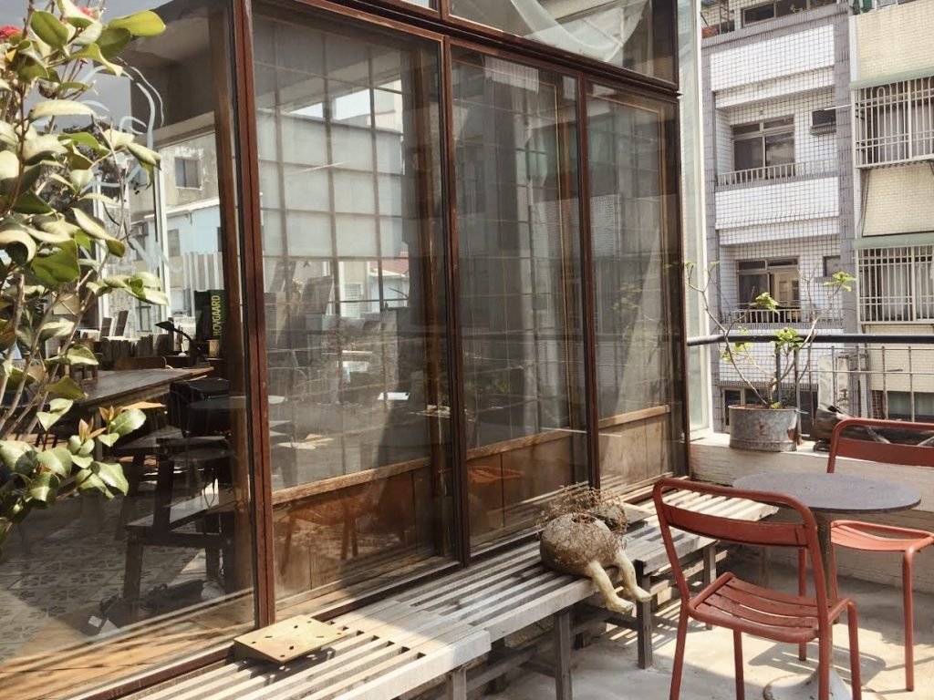 The rooftop garden at Room A is a quiet oasis away from the noises in Tainan