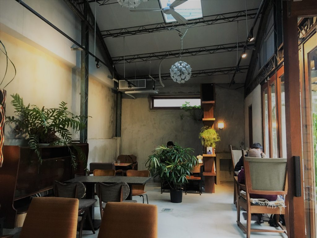 The now permanently closed Taimo Cafe with its industrial interior design