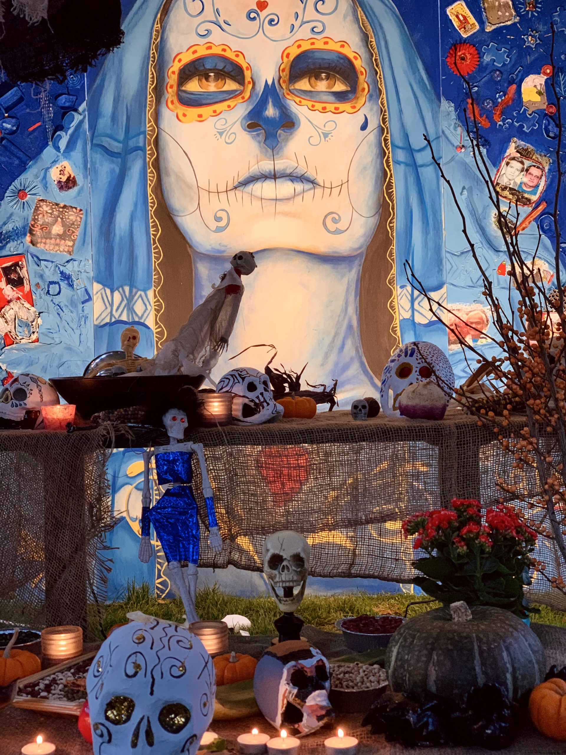 A shrine celebrating Day of the Dead at Emery Barnes Park in Yaletown Vancouver