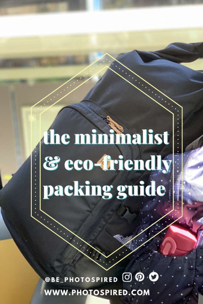 minimalist and eco-friendly packing guide for 3 months of travel in Asia