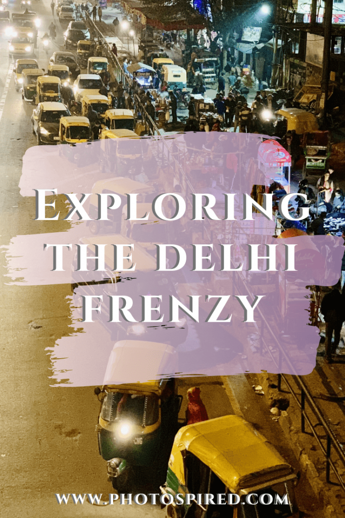 Pinterest image for places to visit and explore in the Delhi frenzy