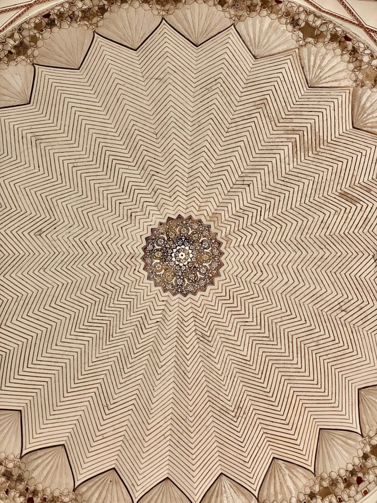 Geometric designs on the domes of Humayun's Tomb