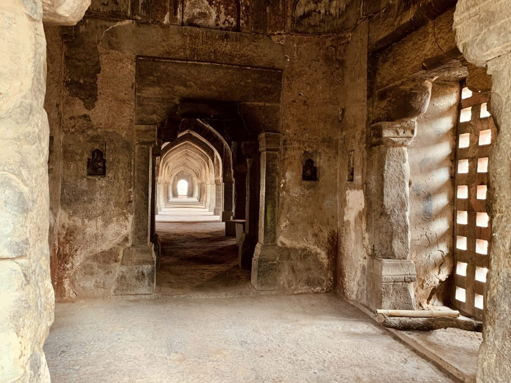 Entry passage at Khirki Masjid