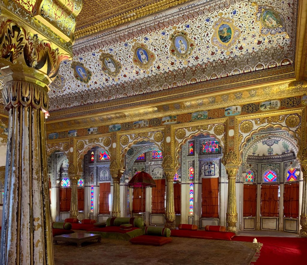 opulence palace hall in mehrangarh fort