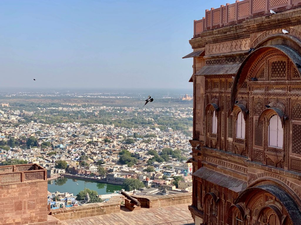 city view from mehrangarh fort in jodhpur