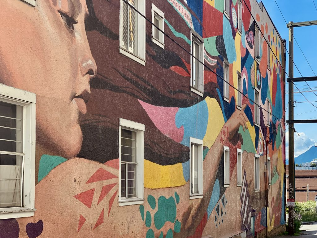 colourful wall mural in vancouver
